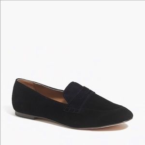 New j. Crew black sided penny loafers